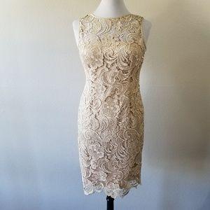 Adrianna Papell Lace Sheath Dress 4 (NWOT)